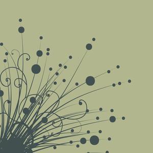 Belle conception florale sur fond abstrait.