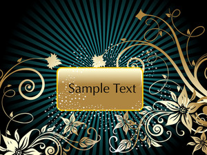 Beautiful Floral Pattern Background With Sample Text