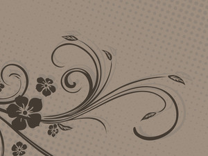 Beautiful Floral Pattern With Dotted Background