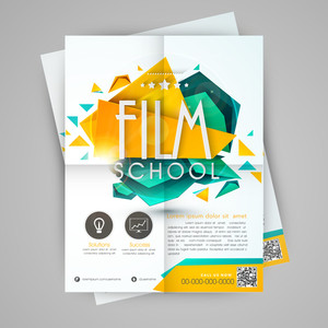 Beautiful flyer banner or template for film school.