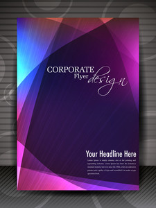Beautiful Flyer Design With Rays Background