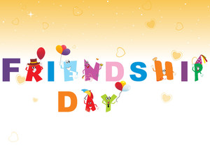 Beautiful Friendship Day Illustration
