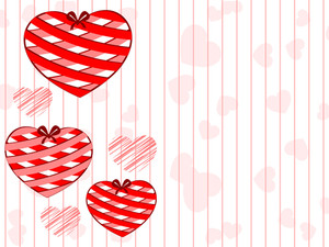 Beautiful Hanging Hearts On Seamless Line Background. Vector Illustation