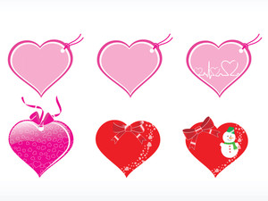 Beautiful Heart Design Vector Tags