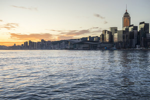 Beautiful HongKong cityscape at sunrise (Hong Kong)
