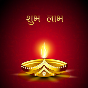Beautiful Illuminating Diya Background For Diwali Or Deepawali Festival.