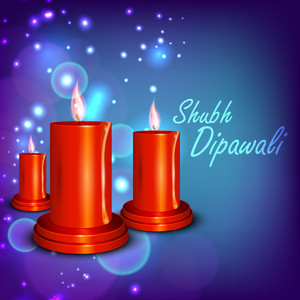 Beautiful Illuminating Diya Background For Hindu Community Festival Diwali Or Deepawali In India.