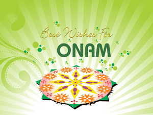 Beautiful Illustration For Onam