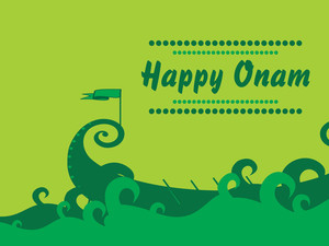 Beautiful Illustration For Onam
