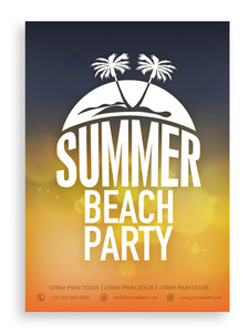 Beautiful invitation card design for Summer Beach Party.
