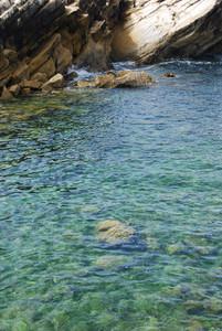 Beautiful Lagoon With Green Ocean Water