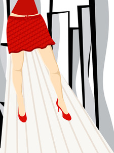 Beautiful Lags Of A Girl With The Abstract Background.vector.