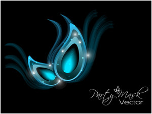 Beautiful Mask  Design For Party Or Events In Blue Color