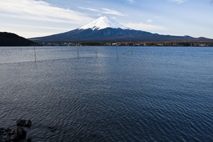 Beautiful Mount Fuji with lake, japan