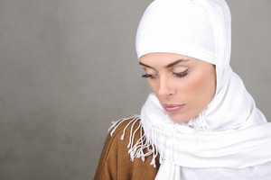 Beautiful Muslim adult woman