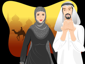 Beautiful Muslim Arabic Couple
