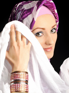 Beautiful Muslim fashion girl