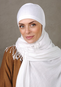 Beautiful Muslim positive woman smiling portrait