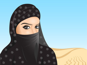 Beautiful Muslim Woman In Hijab.