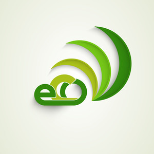 Beautiful Nature Background With Green Leaves And Stylish Text Eco