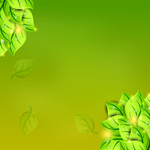 Beautiful Nature Background With Green Leaves