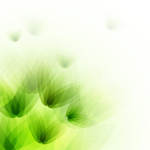 Beautiful Nature Background With Shiny Hreen Flowers On Abstract Background.