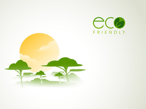Beautiful Nature Background With Text Eco Friendly
