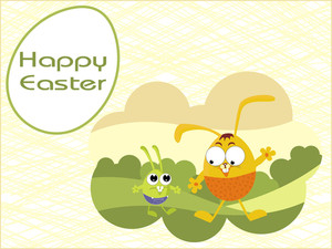 Beautiful Pattern Background With Cute Egg