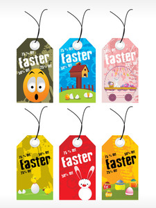 Beautiful Pattern Set Of Easter Day Tag
