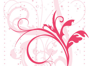 Beautiful Pink Floral Pattern