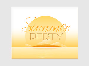 Beautiful poster banner or flyer design with nature view for Summer Party celebration.