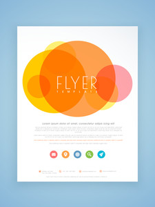 Beautiful professional flyer template or brochure design for your business.