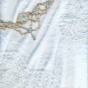 Beautiful Pure White Textile Wedding Background