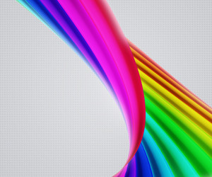 Beautiful Rainbow Shapes Background