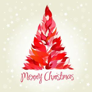 Beautiful Red Christmas Tree