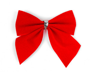 Beautiful red satin gift bow