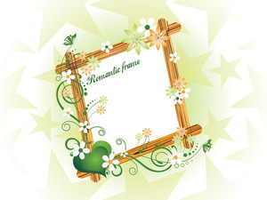 Beautiful Romantic Frame Illustration