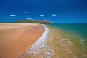 Beautiful sandy seaside