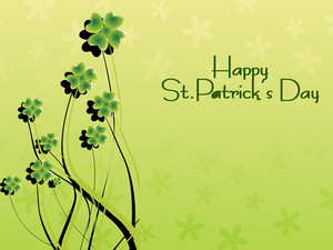Beautiful Shamrock Flower Background