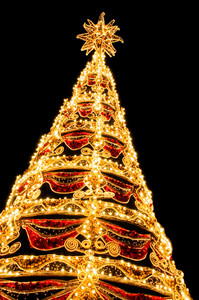 Beautiful Shining Abstract Christmas Trees
