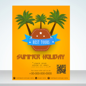 Beautiful summer holidays flyer banner or template design.