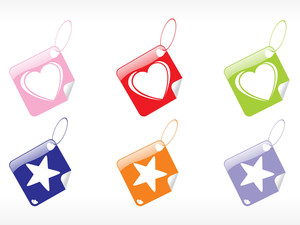 Beautiful Tags In Heart And Star Shape
