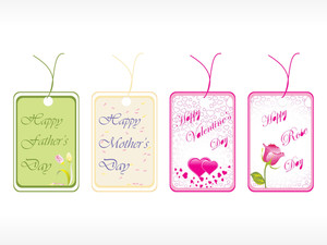 Beautiful Tags With Love Set 19