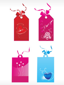 Beautiful Tags With Love Set 2