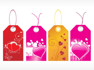 Beautiful Tags With Love Set 8