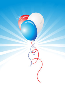 Beautiful Vector Card With Balloons