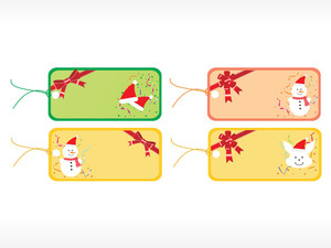 Beautiful Vector Christmas Tags Set 6