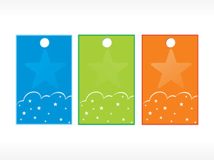 Beautiful Vector Christmas Tags Set 7