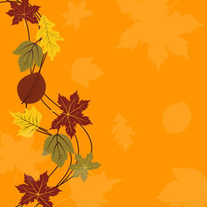 Beautiful Vintage Background For Autumn Season With Maple Leaves