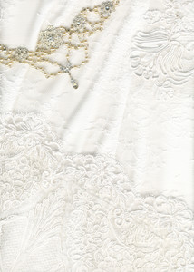 Beautiful White Textile Wedding Background